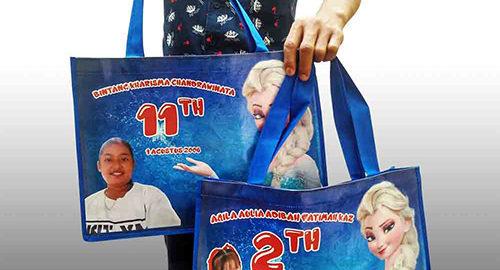tas untuk ulang tahun anak printing kalep