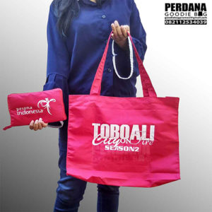 goodie bag promosi model lipat bahan taslan