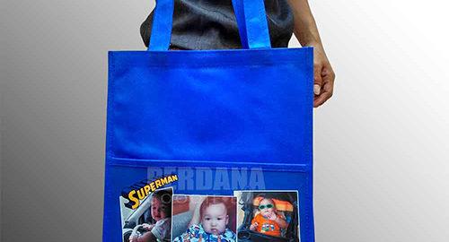 goodie bag ulang tahun anak karakter spunbond kombinasi printing