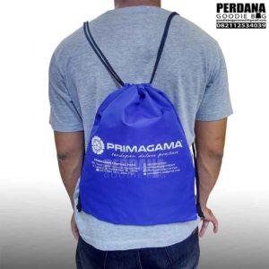 souvenir tas serut ransel taslan biru primagama di jakbar Q3595