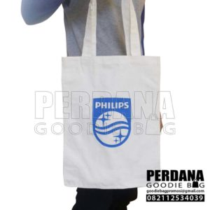 Tas Bahan Blacu Sablon Philips Tebet By Perdana Q3764