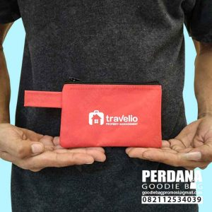 pouch dompet kecil travelio bahan D300 by Perdana Q3874