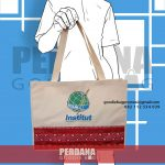 goodie bag bahan kanvas kombinasi batik id5678P