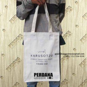 Tas Goodie Bag Kanvas Sablon Bypass Ida Bagus Mantra Sukawati Gianyar Bali Id8222P