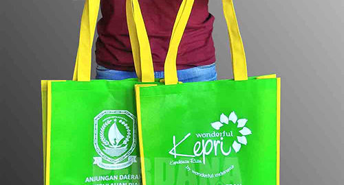 jual tas go green spunbond murah