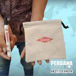 souvenir pouch serut bahan blacu printing id4200